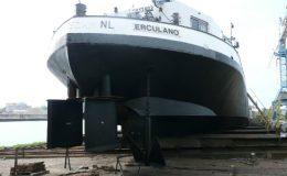Schip Erculano op de werf - Scheepsmakelaardij Roelofs De Bot